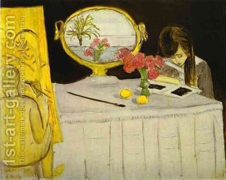 The Painting Lesson by Henri Matisse - Reproduction Oil Painting