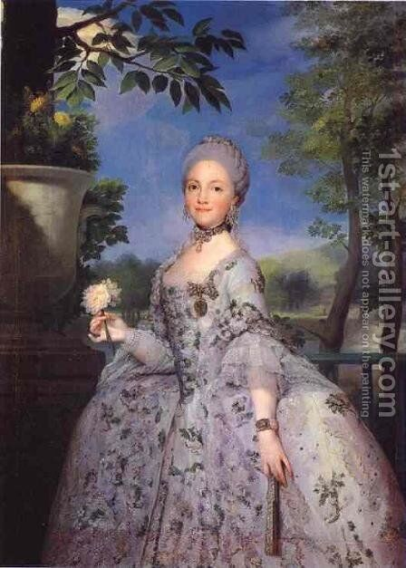 Maria Luisa of Parma by Anton Raphael Mengs - Reproduction Oil Painting