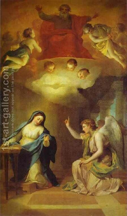 Annunciation by Anton Raphael Mengs - Reproduction Oil Painting