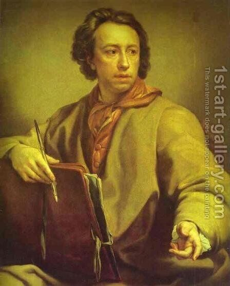 Self Portrait 3 by Anton Raphael Mengs - Reproduction Oil Painting