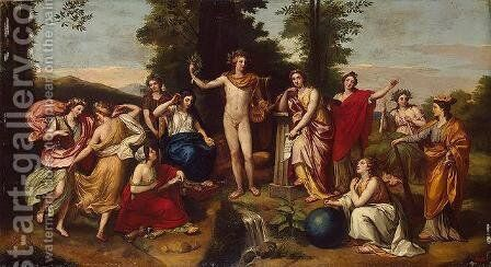 Parnassus by Anton Raphael Mengs - Reproduction Oil Painting