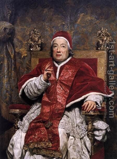 Clement XIII Rezzonico by Anton Raphael Mengs - Reproduction Oil Painting