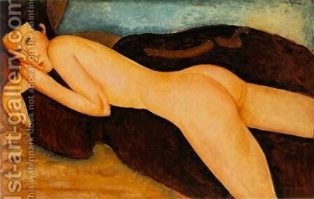 Reclining Nude from the Back by Amedeo Modigliani - Reproduction Oil Painting
