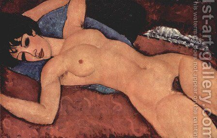 Reclining Nude 3 by Amedeo Modigliani - Reproduction Oil Painting