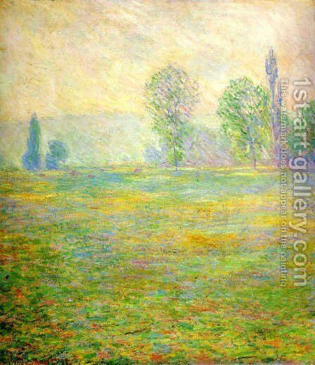 Meadows at Giverny by Claude Oscar Monet - Reproduction Oil Painting
