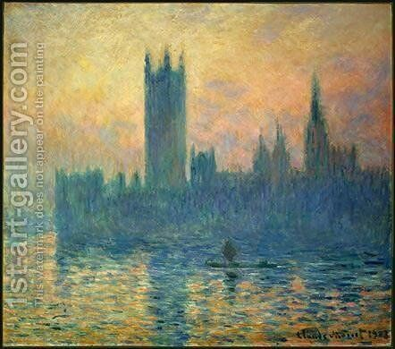 The Houses of Parliament, Sunset by Claude Oscar Monet - Reproduction Oil Painting