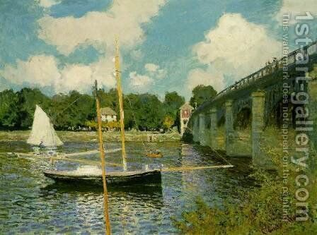 The Highway Bridge at Argenteuil by Claude Oscar Monet - Reproduction Oil Painting