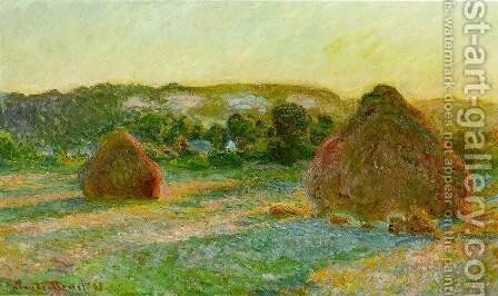 Wheatstacks by Claude Oscar Monet - Reproduction Oil Painting