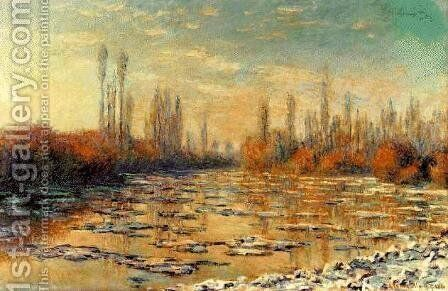 The Floating Ice by Claude Oscar Monet - Reproduction Oil Painting