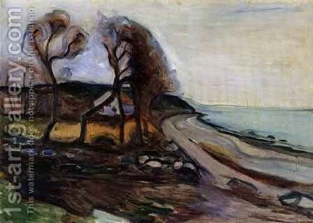By The Shore by Edvard Munch - Reproduction Oil Painting