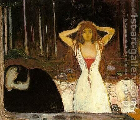Ashes by Edvard Munch - Reproduction Oil Painting