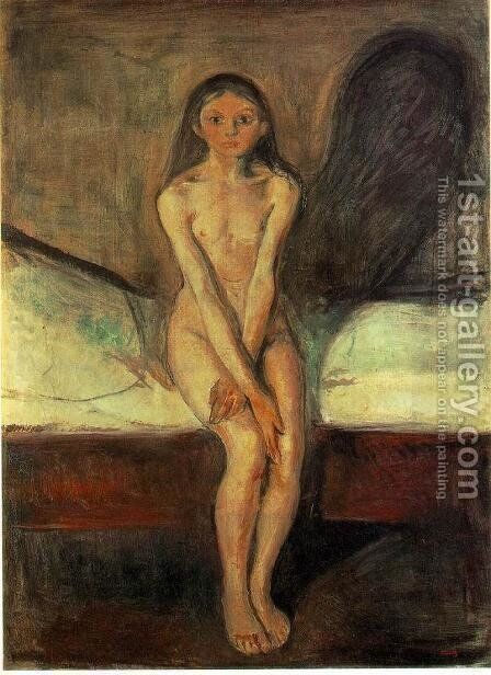 Puberty by Edvard Munch - Reproduction Oil Painting