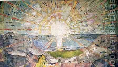 The Sun by Edvard Munch - Reproduction Oil Painting