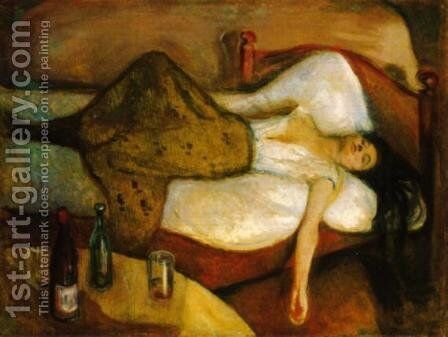 The Day After by Edvard Munch - Reproduction Oil Painting