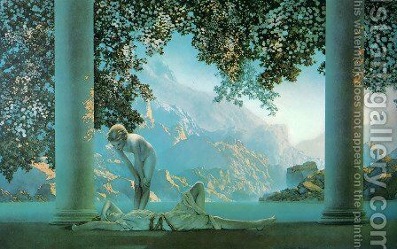 Daybreak by Maxfield Parrish (inspired by) - Reproduction Oil Painting