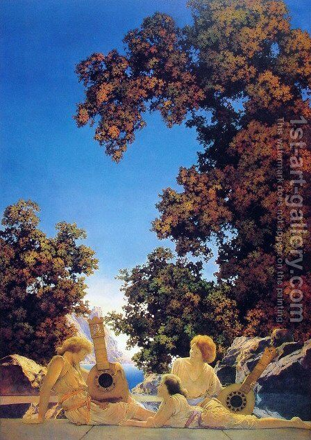 Interlude by Maxfield Parrish (inspired by) - Reproduction Oil Painting