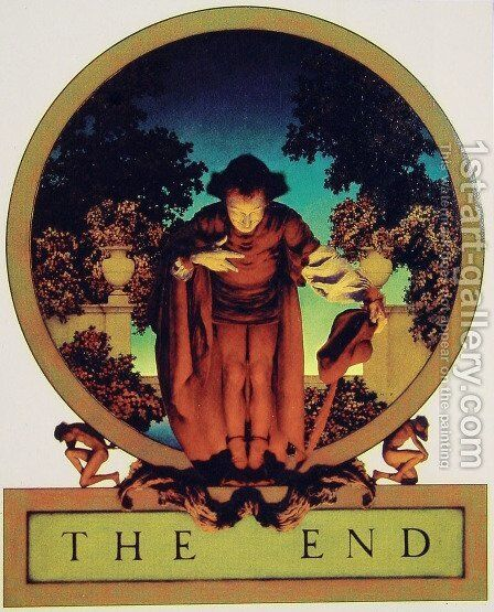 The End by Maxfield Parrish (inspired by) - Reproduction Oil Painting