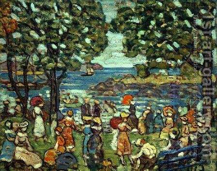 Salem Cove by Maurice Brazil Prendergast - Reproduction Oil Painting