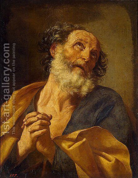 Repentance of St Peter by Guido Reni - Reproduction Oil Painting