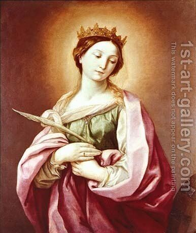 St. Catherine by Guido Reni - Reproduction Oil Painting