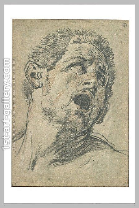 Head of Man Screaming by Guido Reni - Reproduction Oil Painting