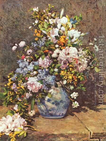 Bouquet Of Spring Flowers By Pierre Auguste Renoir Reproduction Oil Painting