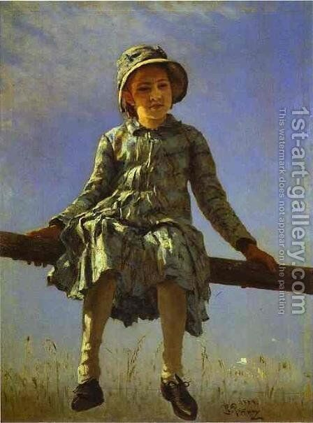 Dragon-Fly by Ilya Efimovich Efimovich Repin - Reproduction Oil Painting