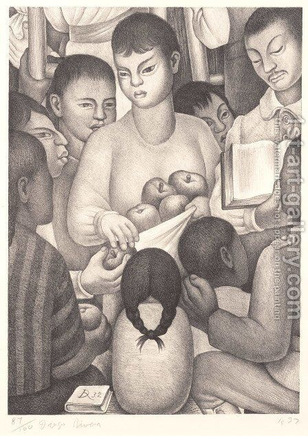 Fruits of Labor by Diego Rivera - Reproduction Oil Painting