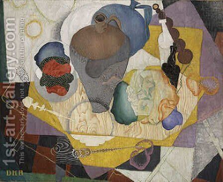 Nature Morte Espagnole by Diego Rivera - Reproduction Oil Painting