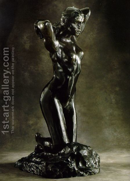 The Kneeling Female Faun by Auguste Rodin - Reproduction Oil Painting