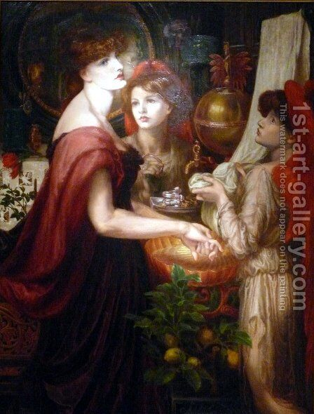 The Beautiful Hand by Dante Gabriel Rossetti - Reproduction Oil Painting