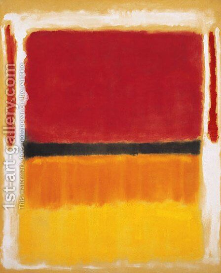 Untitled 3 by Mark Rothko (inspired by) - Reproduction Oil Painting