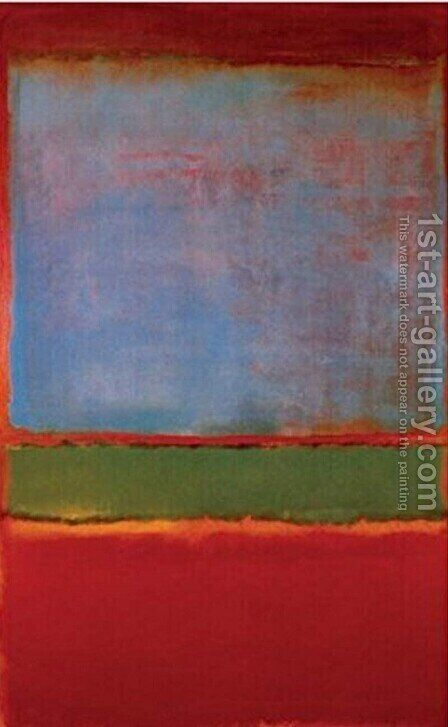 Violet, Green, Red by Mark Rothko (inspired by) - Reproduction Oil Painting