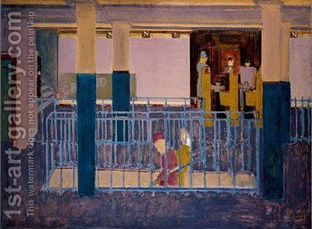 Entrance to Subway by Mark Rothko (inspired by) - Reproduction Oil Painting