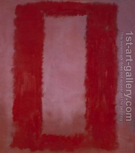 Red on Maroon by Mark Rothko (inspired by) - Reproduction Oil Painting