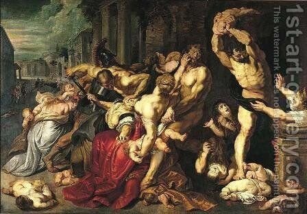 Massacre of the Innocents by Rubens - Reproduction Oil Painting