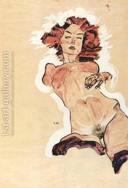 Female Nude 2 by Egon Schiele - Reproduction Oil Painting