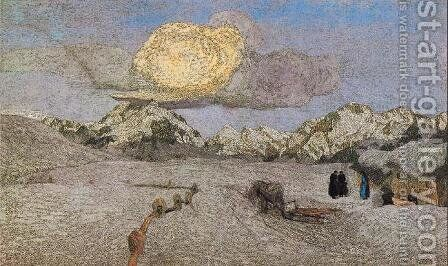 Death by Giovanni Segantini - Reproduction Oil Painting