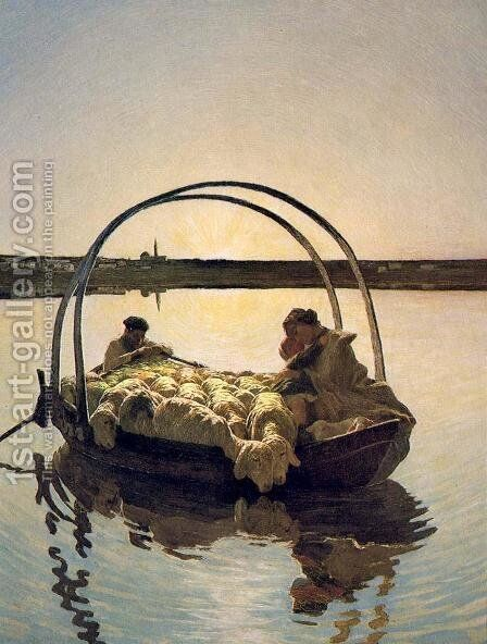 Ave Maria by Giovanni Segantini - Reproduction Oil Painting