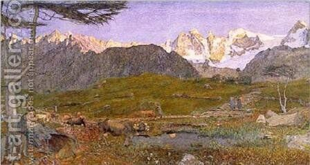 Life by Giovanni Segantini - Reproduction Oil Painting