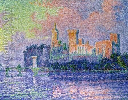 The Chateau des Papes by Paul Signac - Reproduction Oil Painting