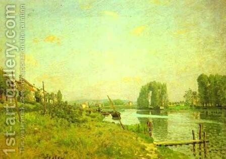 L'Ile Saint Denis by Alfred Sisley - Reproduction Oil Painting