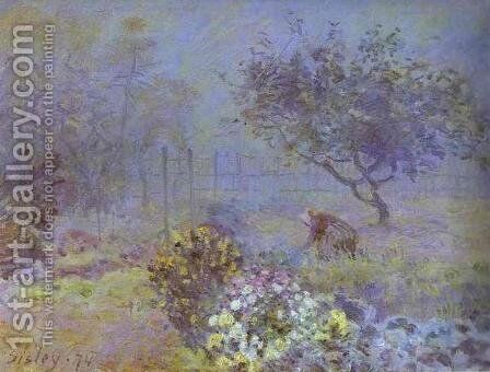Le Brouillard by Alfred Sisley - Reproduction Oil Painting