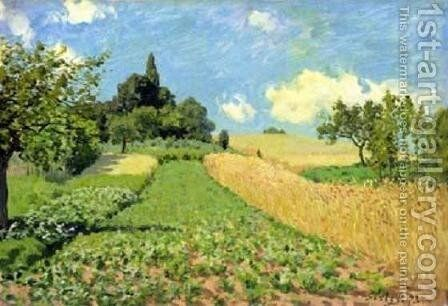 The Cornfield by Alfred Sisley - Reproduction Oil Painting