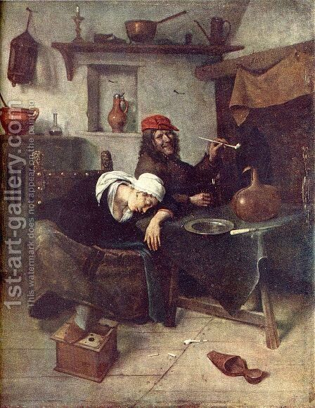 Idlers by Jan Steen - Reproduction Oil Painting