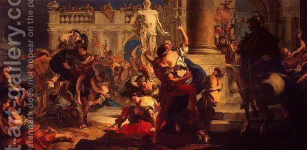 The Rape of the Sabine Women by Giovanni Battista Tiepolo - Reproduction Oil Painting