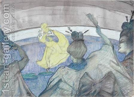 At The Circus by Toulouse-Lautrec - Reproduction Oil Painting