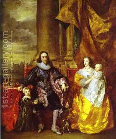 Charles I and Queen Henrietta Maria by Sir Anthony Van Dyck - Reproduction Oil Painting