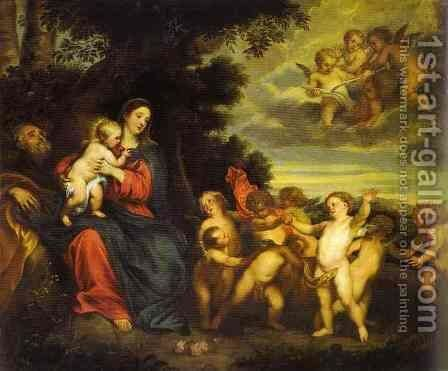 The Rest on the Flight to Egypt by Sir Anthony Van Dyck - Reproduction Oil Painting