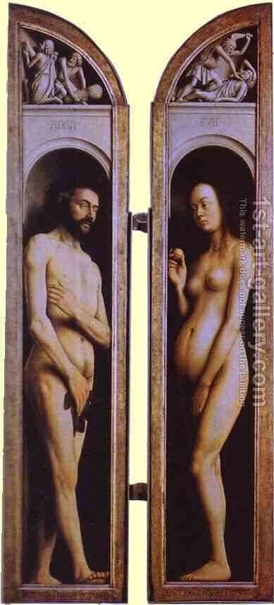 Adam and Eve by Jan Van Eyck - Reproduction Oil Painting